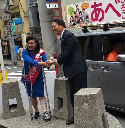 最終日 海江田衆院議員が応援